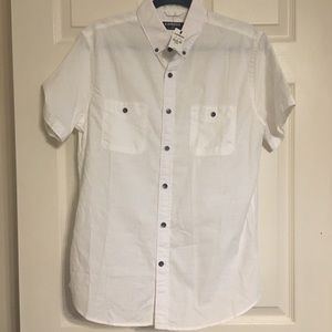 New w/ tags white short sleeve Express button down
